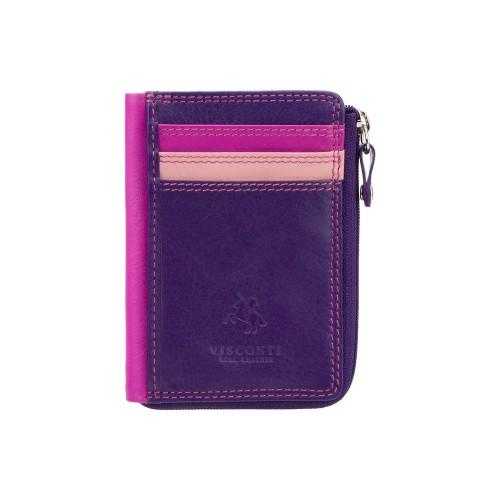 Visconti puzdro na karty a drobné fialové