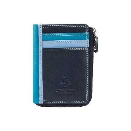Visconti pouzdro na karty a drobné modré