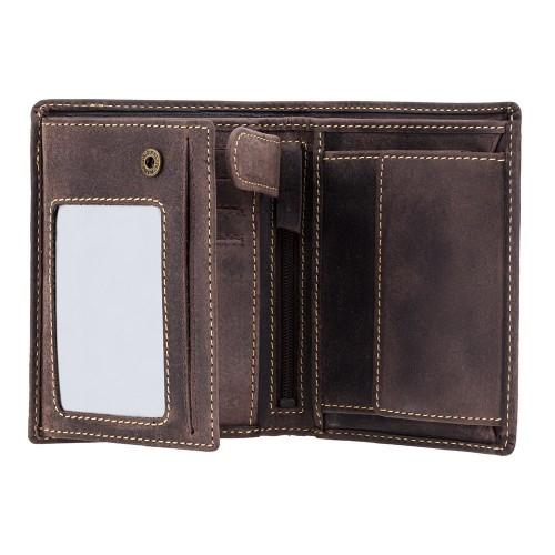 Visconti pánska peňaženka RFID z prírodnej kože s patinou