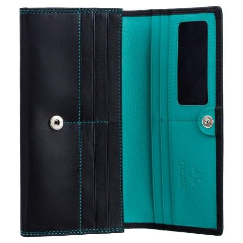 Visconti klasická dámska čierna kožená peňaženka