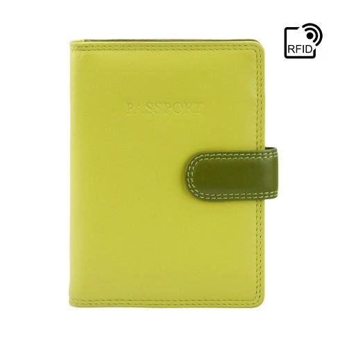 Visconti farebné puzdro na cestovný pas s RFID