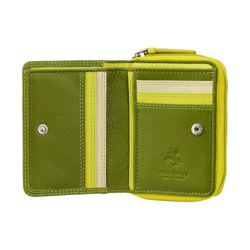 Visconti dievčenské zelená kožená peňaženka s ochranou dokladov