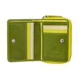Visconti dievčenská zelená kožená peňaženka s ochranou dokladov