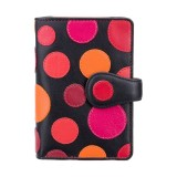 Visconti dámská kožená peněženka s RFID červené puntíky