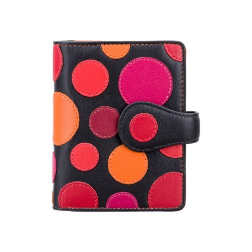 Visconti menší dívčí kožená peněženka s puntíky