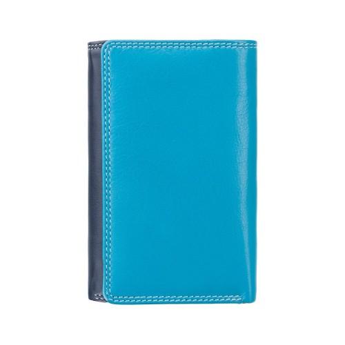 Visconti modrá rozkladacia kožená peňaženka s RFID