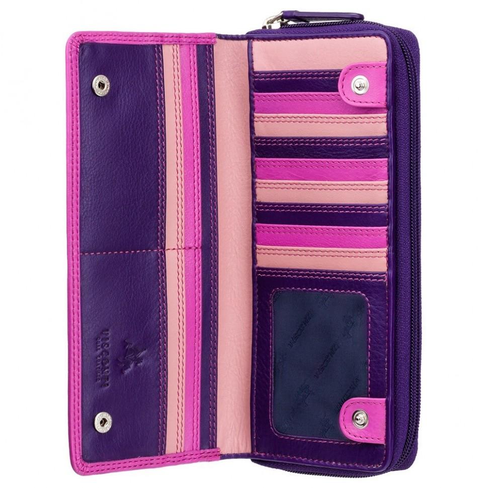 Visconti RAINBOW RB55 HONOLULU dámská kožená peněženka borůvková