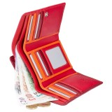 Visconti červená rozkládací kožená peněženka