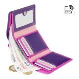 Visconti menší růžová rozkládací peněženka s RFID