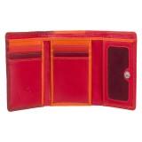 Visconti menší červená rozkládací peněženka s RFID