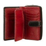 Visconti dámská černá kožená peněženka na hodně karet