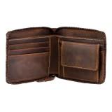 Visconti kožená peněženka z přírodní kůže na zip