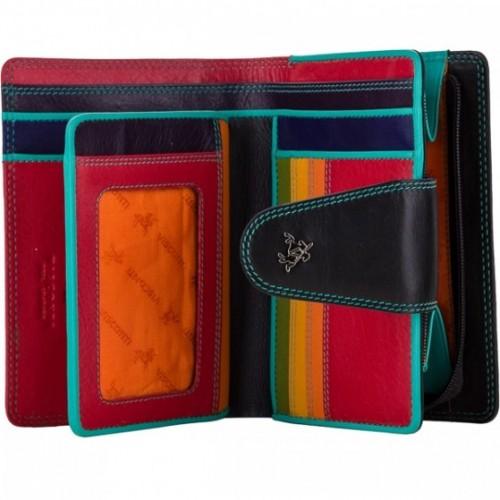 Visconti dámska kožená peňaženka čierna a spektrum RFID