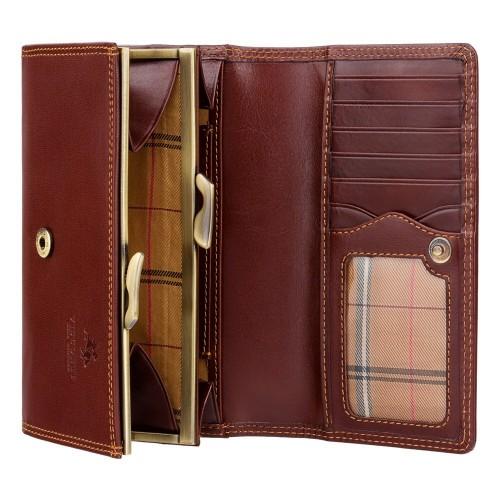 Visconti kvalitná dámska kožená peňaženka na klip