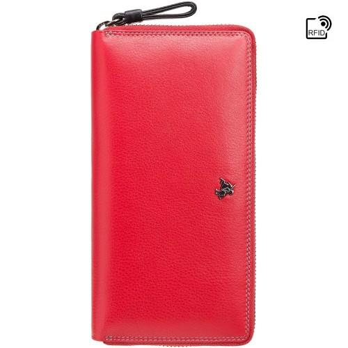 Visconti velká červená kožená peněženka