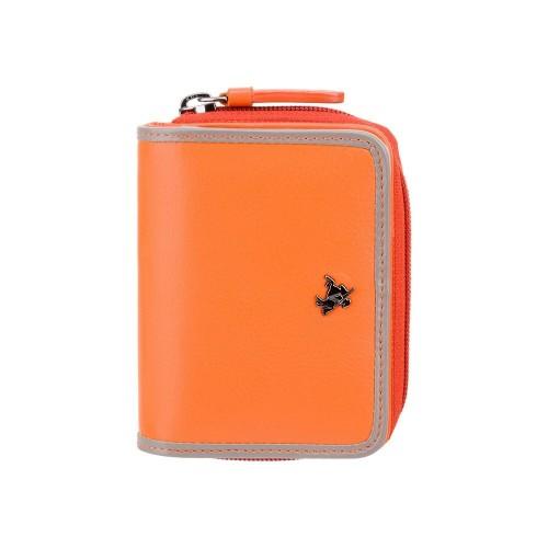 Visconti Rhodes RD90 Sparrow dámska kožená peňaženka oranžová / taupe