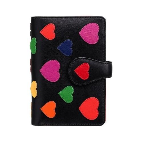 Visconti SPECTRUM SP31 POPPY dámská kožená peněženka černá