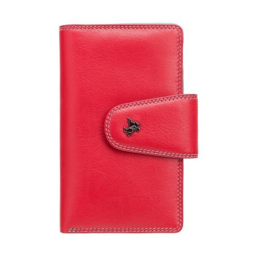 Visconti červená peněženka s barevným vnitřkem a RFID