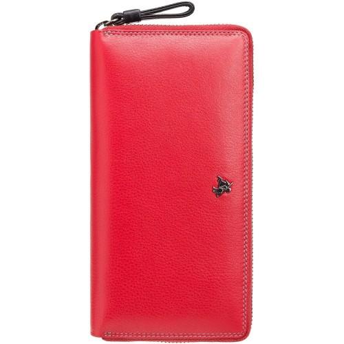 Visconti veľká červená kožená peňaženka