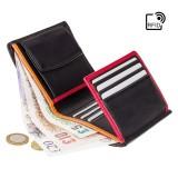 Visconti černá plochá kožená peňaženka RFID