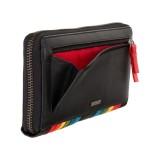 Visconti kožená peňaženka čierna a dúha