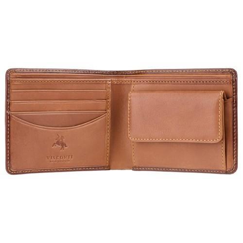 Visconti jednoduchá dvojfarebná pánska peňaženka