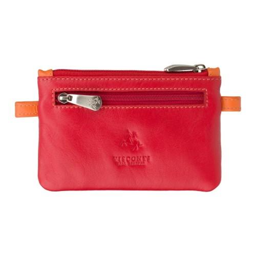 Visconti červená kožená kľúčenka