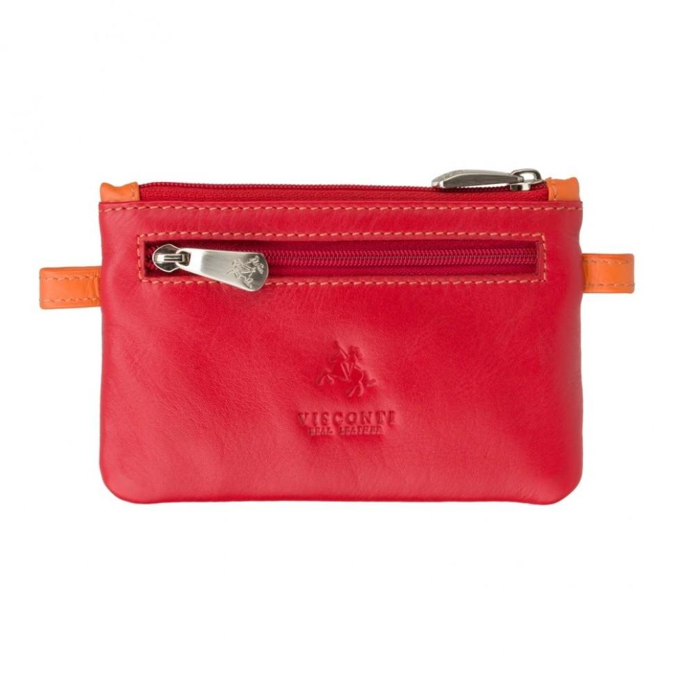 Visconti červená kožená klíčenka