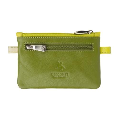 Visconti zelená kožená kľúčenka