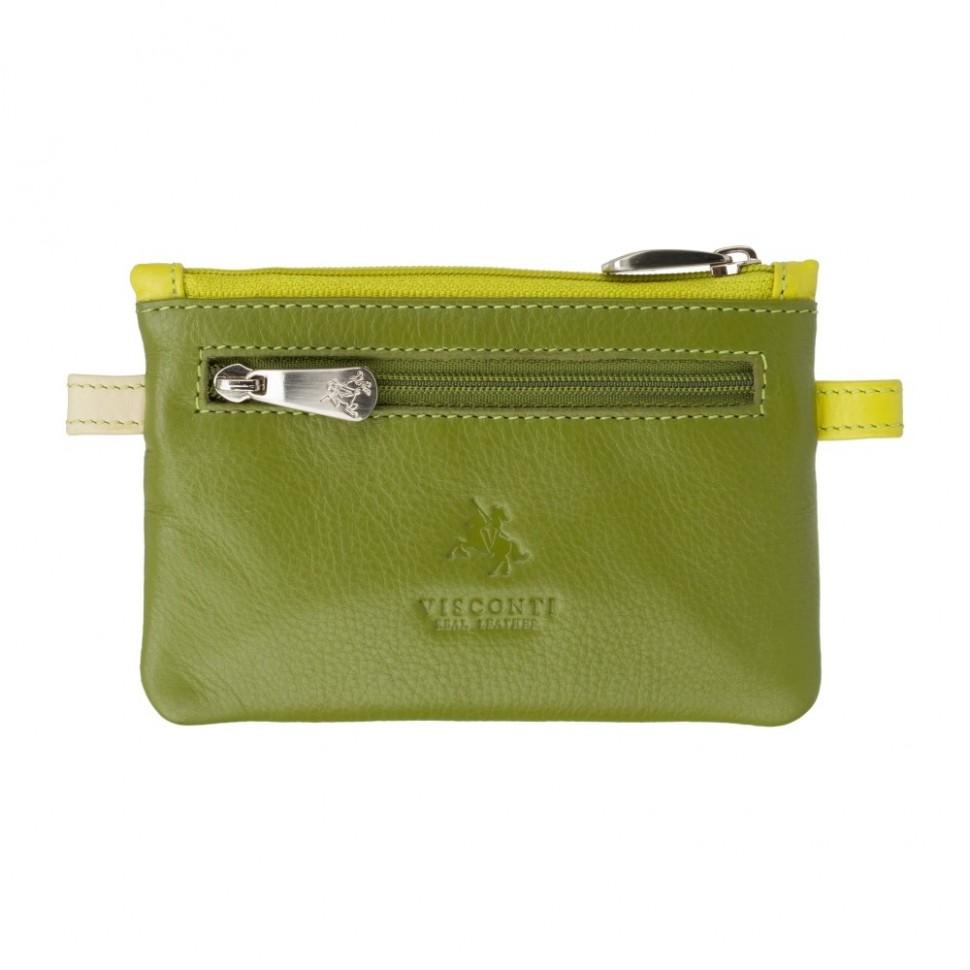 Visconti zelená kožená klíčenka