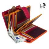 Visconti oranžová dámská kožená peněženka s RFID