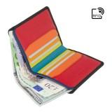 Visconti barevná pánská kožená peněženka TAP&GO