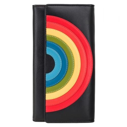 Visconti kožená peněženka s duhou