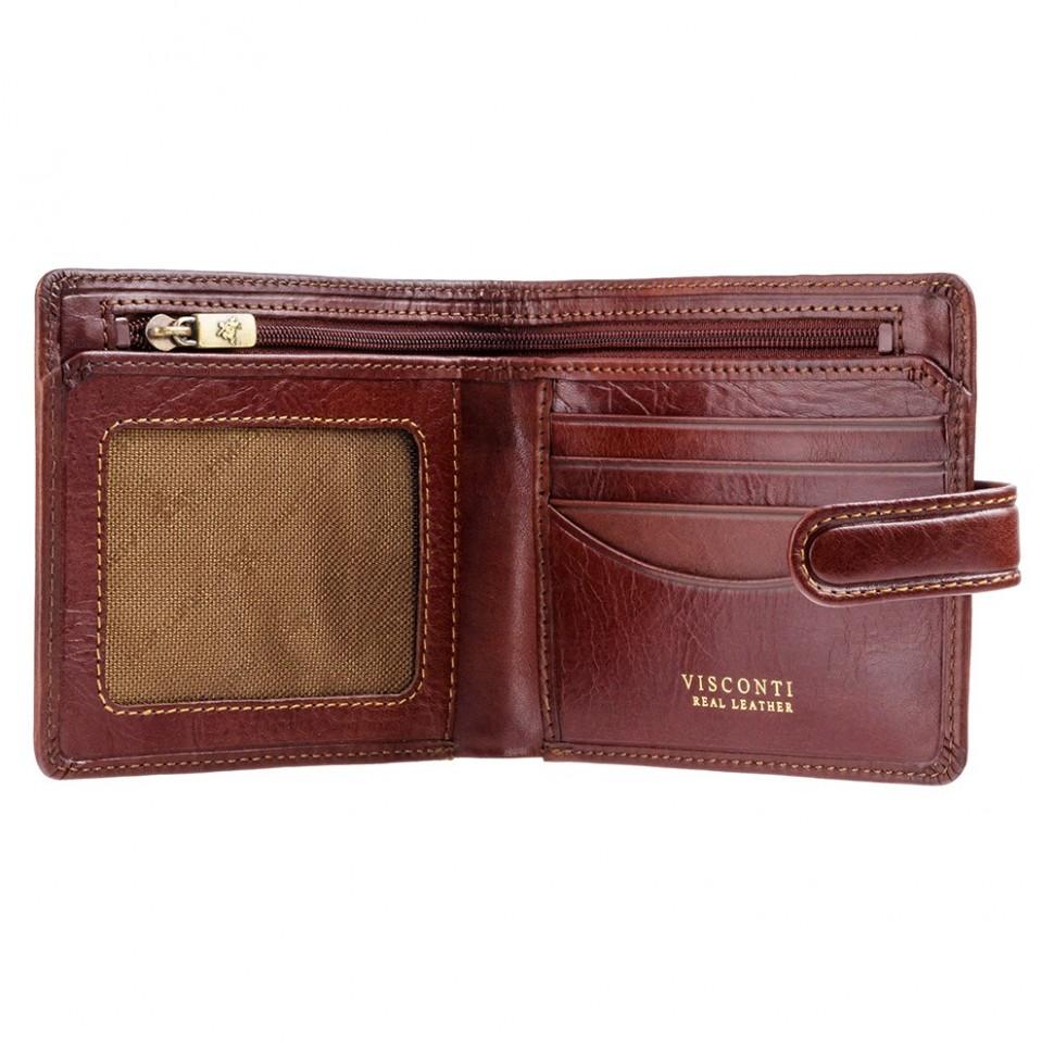 Visconti pánska kožená peňaženka extra zips TSC41