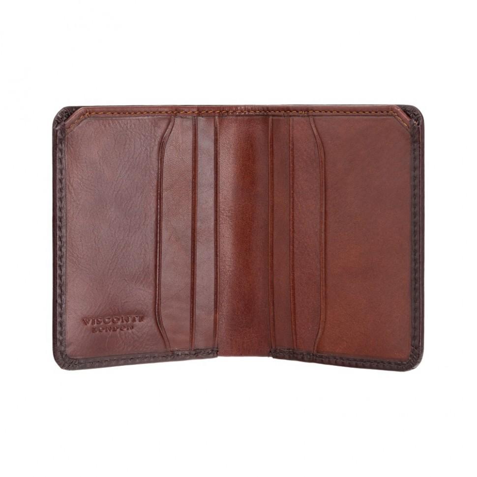 Visconti peňaženka na karty a bankovky leštená koža