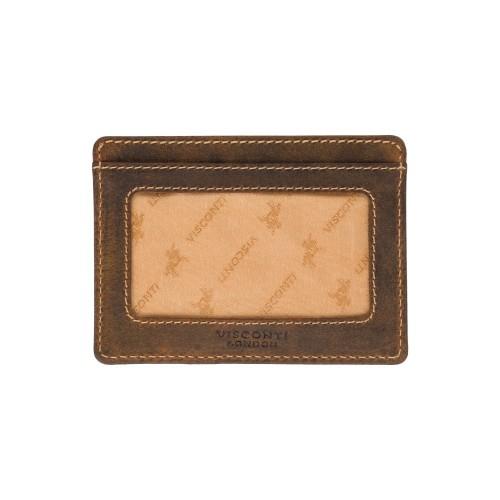 Visconti pouzdro na karty z přírodní kůže