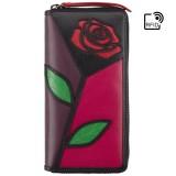 Visconti velká kožená peněženka s růží