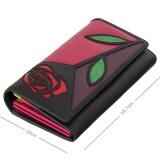 Visconti velká kožená peněženka na patent s růží