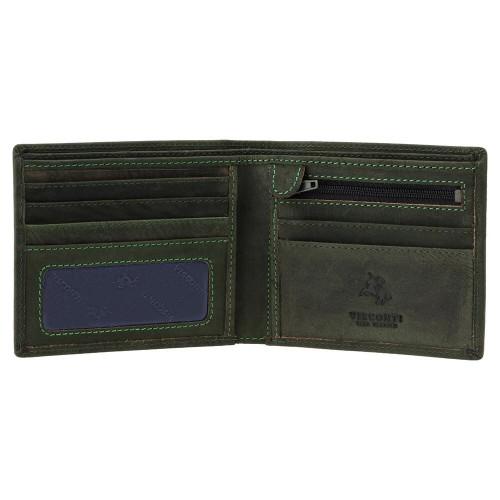 Visconti menší pánská peněženka olejovaná kůže