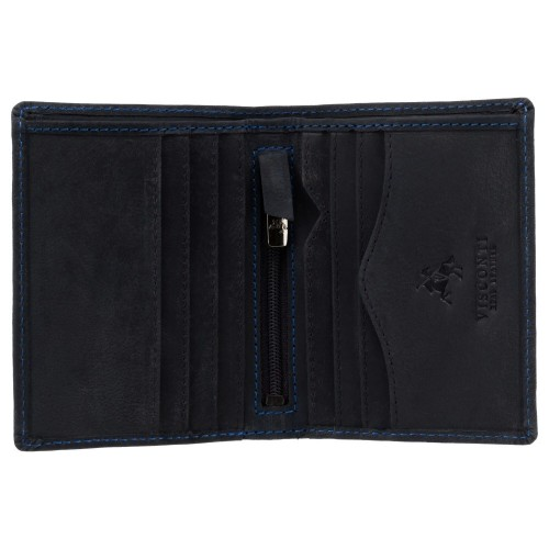 Visconti menšia pánska peňaženka z olejovanej kože