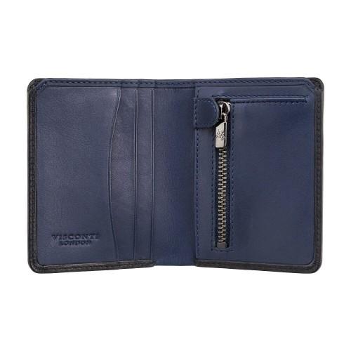 Visconti kožená peňaženka s priehradkou na zips