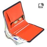 Visconti kožená peňaženka s vreckom na zips