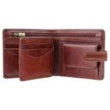 Visconti pánska kožená peňaženka zips a klopa