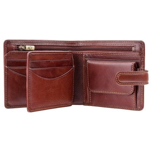 Visconti pánská kožená peněženka zip a klopa TSC42