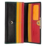 Visconti dámska kožená peňaženka čierna a červená