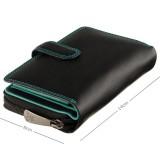 Visconti dámska kožená peňaženka čierna a spectrum