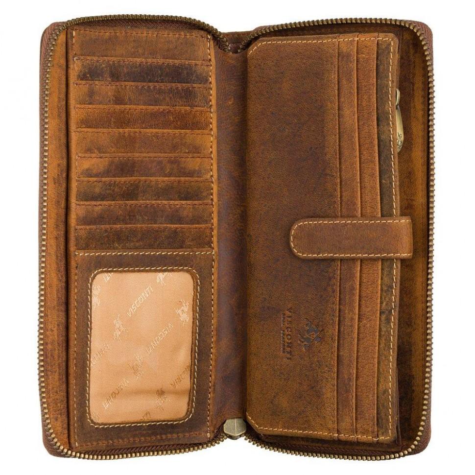 Visconti veľká dámska kožená peňaženka z prirodnej kože