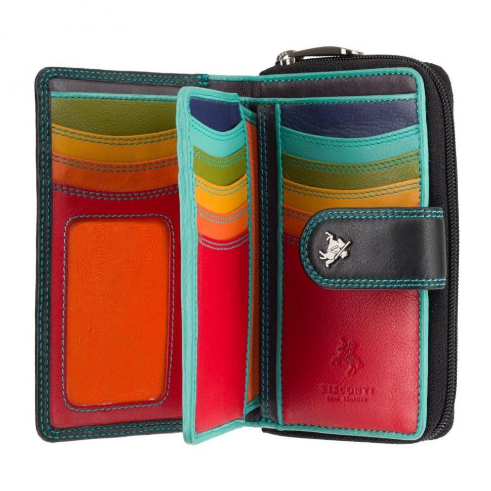 Visconti dámská kožená peněženka na hodně karet spectrum R13