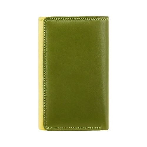 Visconti zelenožlutá rozkládací kožená peněženka RB43