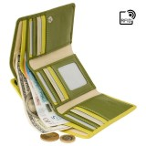 Visconti zelenožltá rozkladacia kožená peňaženka RB43